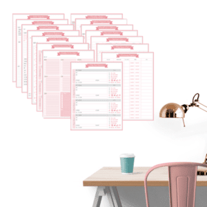 Minimal Pink & Grey Business Marketing Kit