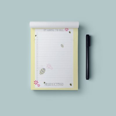 Bee Productive A5 Notepad