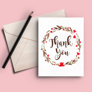 Rustic Wreath Thank You Cards
