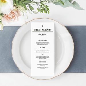 Wedding Dinner Menu Editable – M2001
