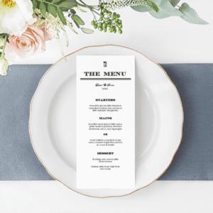 Wedding Dinner Menu Editable – M2001