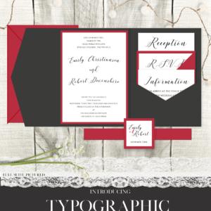Typographic Wedding Suite