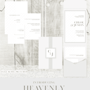Heavenly Wedding Invitation Suite