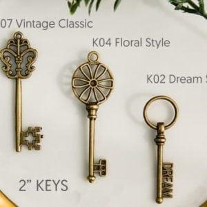 Bronze Key Invitation Accessory