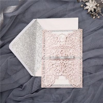 Dream: Rose Laser Inspired Gatefold Invitation