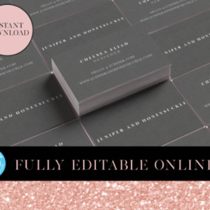 Business Card Template | Minimalist Business Cards| Editable Cards | DIY Printable card | Instant Download Digital Editable PDF