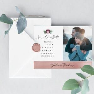 Save the Date | Winter Themed | Save the Date Template | 5×7 | Instant Download Digital Editable PDF |